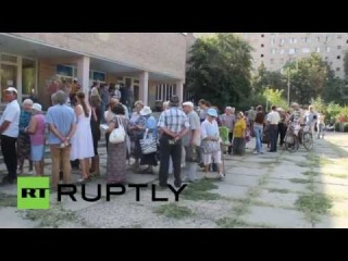 Ukraine: Russian aid handed out in Lugansk