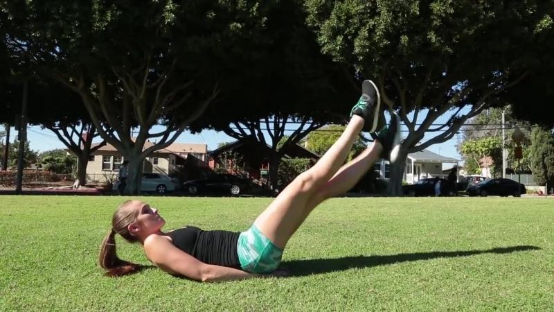 LAZY AB EXERCISES! (TONE YOUR STOMACH) __ Rachel DeMita