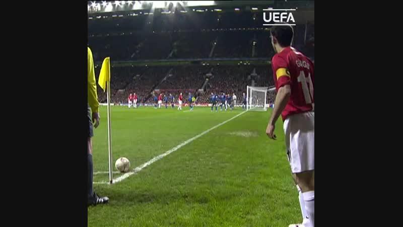 Le but de Nemanja Vidic contre lInter Milan de José Mourinho en 2008
