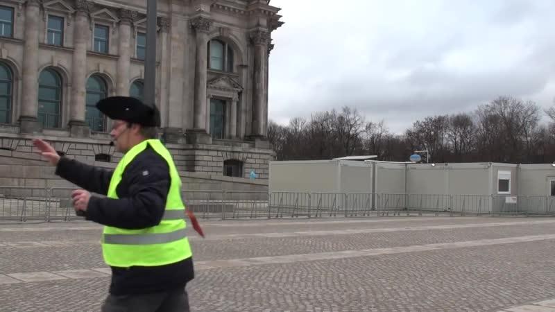 Gilet Jaune Gelbwesten SAMMELN SICH vor dem Regierungssitz Reichstag in Berlin jeden Samstag 14 Uhr!