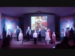Музыкальное поздравление воскресной школы Войскового собора Краснодара, 9 декабря 2018 года.