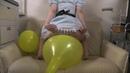 風船フェチ<あみの風船尻割り♪>Balloon Fetish