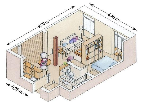 Малогабаритная квартира. Уютно и функционально