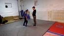 Тренируем проход в ноги (Степан, 7лет)