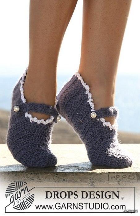 Вязание тапочек или носков