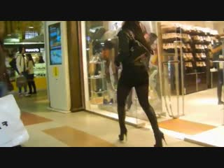 High heel stiletto boots in mall