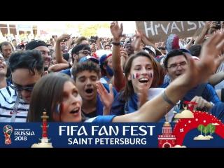 FIFA Fan Fest SPb: французы празднуют