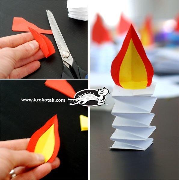 Поделка свеча своими руками