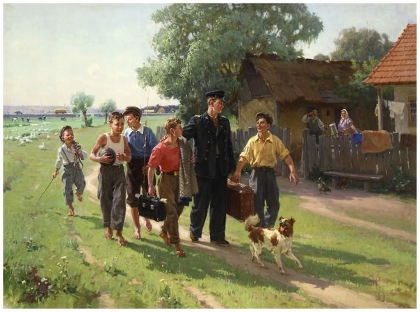 Картина «ВУЗ окончил», 1955 год.