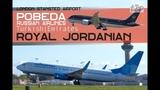 Pobeda Russian Airline Aeroflot Royal Jordanian Jordan 787 Turkish Emirates London Stansted Airport