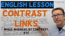 English lesson - Contrast links