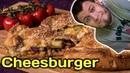 Cамый большой чизбургер! Пирог-чизбургер по популярному рецепту из интернета.