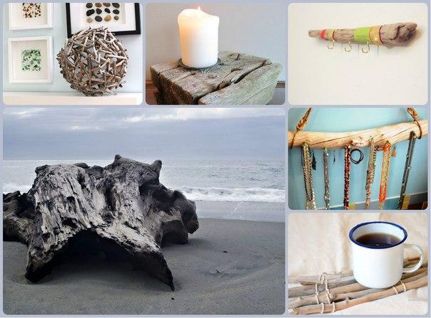 DIY: прикольные украшения для дома из коряг и веток →