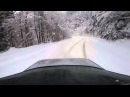 BMW 3 series e36 drift on snow