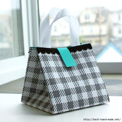 Как сделать подарочную сумочку из бумаги