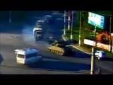 Украина.Колонна военной техники РФ  в Луганске. Россия продолжает поставки бронетехники террористам