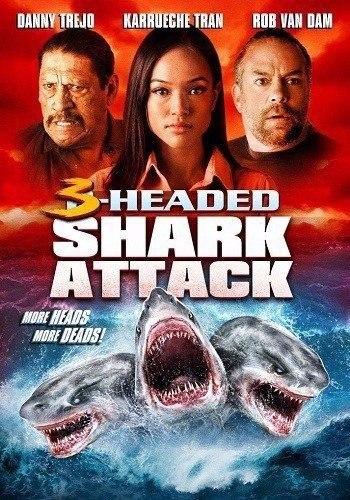 Нападение трёхголовой акулы (2015) HD