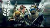 Черепашки-ниндзя дурачатся в лифте  Ninja turtles fooling around in the elevator.