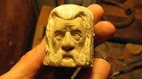 Woodcarving Gandalf wooden ring Lord of the rings
