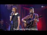 The Sound of Silence - Emma Louise &amp Husky Gawenda on RocKwiz, with Lyrics