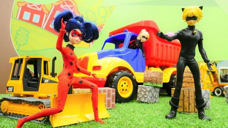 Oyuncak kamyonu kurtarma operasyonu. Ladybug ve Kara Kedi