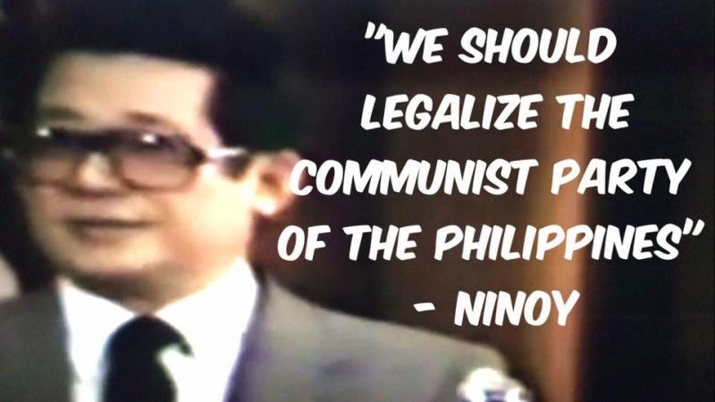 Ninoy, gustong gawing LEGAL ang grupong komunista