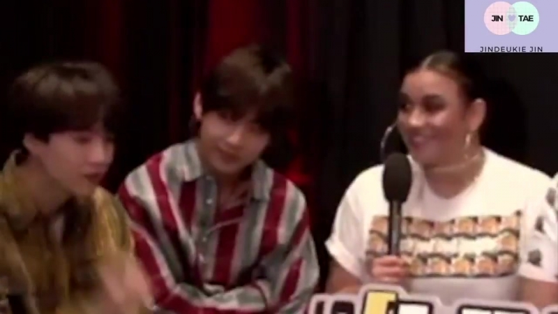 Taehyungs face though.. He is not comfortable with this at all - - On a side note, What a lucky woman - - taejin vjin IVoteBTSBB