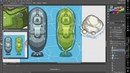 Pixel Art Submariner Design Timelapse