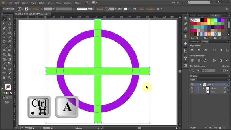 [3][112.60 F] how to cut a circle into 4 equal parts in adobe illustrator