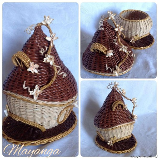Мастер класс плетение чайного домика