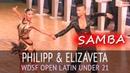 Philipp Alexeev Elizaveta Parsegova | Samba | WDSF Open Latin Under 21 - Semifinal