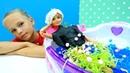 Барби в грязевой ванне СПА Видео для девочек