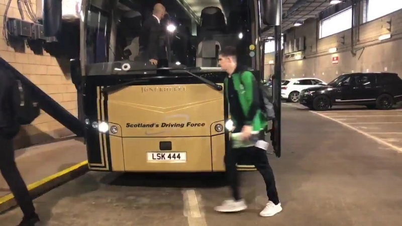 WATCH Celtic FC arrive at Hampden Park ScottishCup