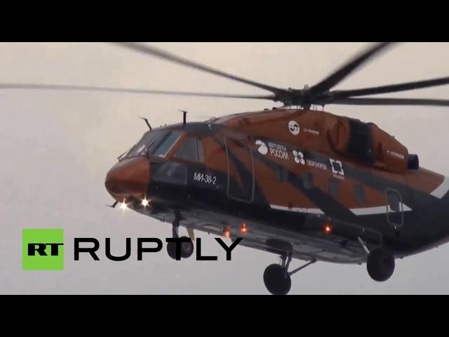 Тестовый полет третьего прототипа вертолета Ми-38