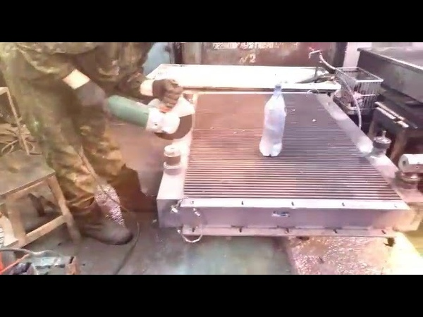 Сварка алюминия полуавтоматом ,ремонт масленого радиатора