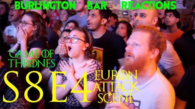 Game Of Thrones Burlington Bar Reactions S8E4 Euron Attack Scene