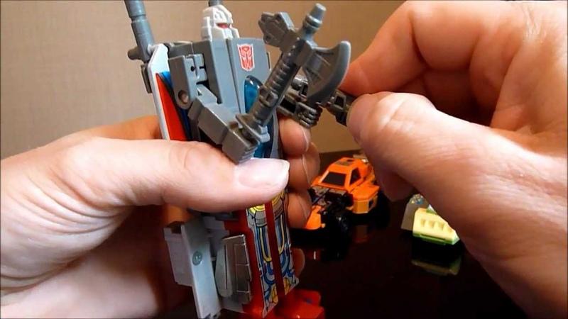 Transformers G1 BROADSIDE , SANDSTORM SPRINGER Autobot Tripple Changers Review