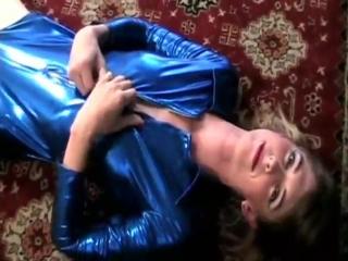 Shemale mandy mitchell - blue and shiny