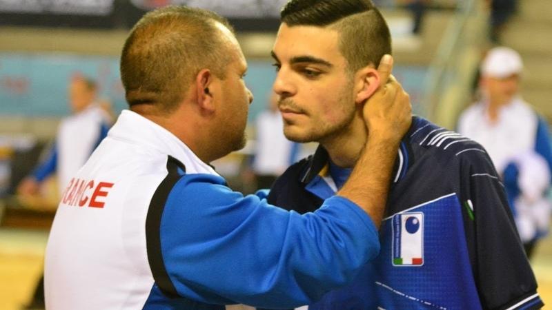 Pétanque Finale Championnat Europe 2018 tête à tête Lacroix Diego Rizzi