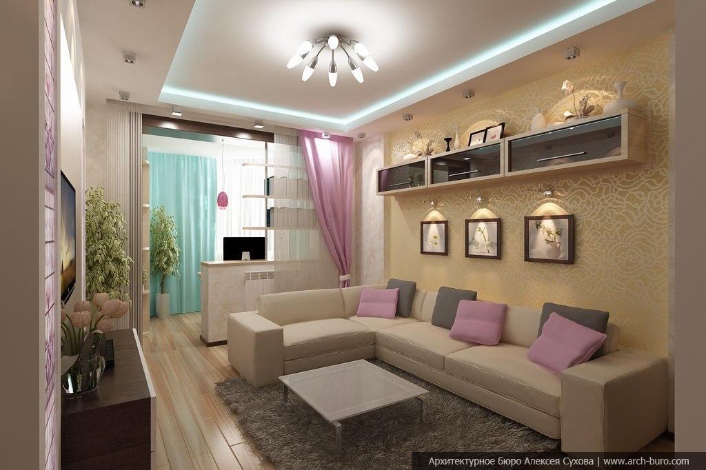 Реальный дизайн комнаты совмещенной с лоджией. - какой профи.