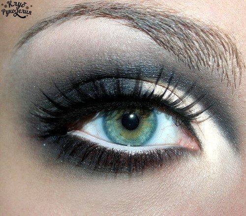 Шикарный вечерний макияж (6 фото) - картинка