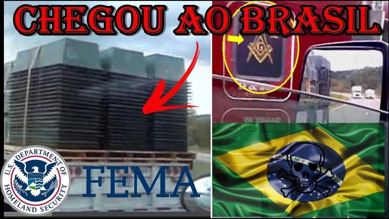 Chegaram os caixões da FEMA no Brasil