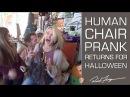 Human Chair Prank - Halloween Scare