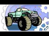 Arabalar çizgi film türkçe. Monster Truck, Yarış arabası - Akıllı arabalar. Çocuklar için arabalar