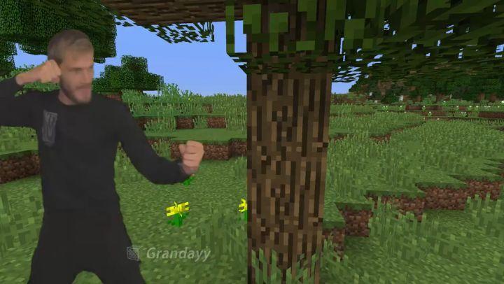 """""""Wow notch added pewdiepie to minecraft pewdiepie lwiay minecraft"""""""