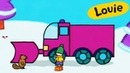 Louie, draw me a snow plough Learn to draw cartoon for kids