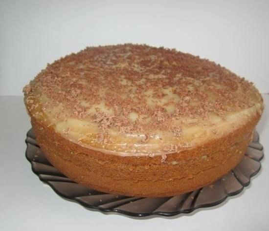 Торт «Рыжик», приготовленный в мультиварке.