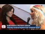 TRT bu öpüşme için çaresiz kaldı Eurovisionu böyle protesto edecek Krista siegfrids