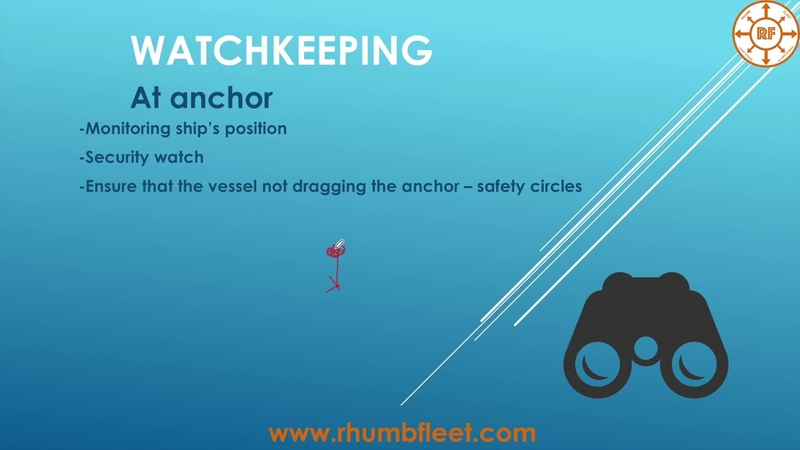 Course for Navigators Part 2 (How to maintain watch at seaat anchorin port)