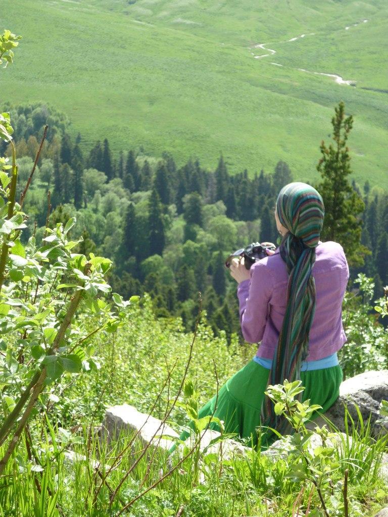 Алипатова на плато Лагонаки
